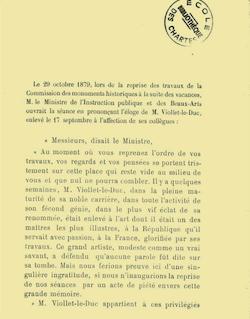 Exposition de l'oeuvre de Viollet-le-Duc ouverte au musee des ...