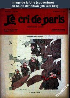 LE CRI DE PARIS  numéro 2161 du 26 août 1938