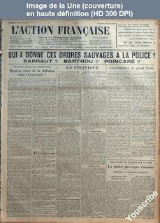 L' ACTION FRANCAISE  numéro 163 du 12 juin 1927