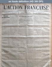 L' ACTION FRANCAISE  numéro 299 du 26 octobre 1915