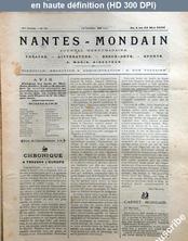 NANTES MONDAIN numéro 32 du 04 mai 1901