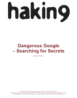 Dangerous secrets of google searching