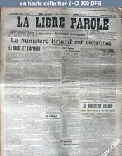 LA LIBRE PAROLE  numéro 6303 du 24 juillet 1909
