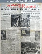 LA NOUVELLE REPUBLIQUE  numéro 991 du 21 novembre 1947