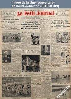 LE PETIT JOURNAL  numéro 27017 du 04 janvier 1937