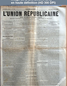 L' UNION REPUBLICAINE DE FONTAINEBLEAU  numéro 199 du 25 juin 1879