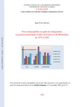 Trois municipalités en quête de changement, la gestion municipale d'Albi, de Castres et de Montauban de 1977 à 1982