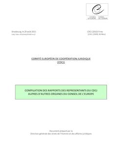 CDCJ _2010_ 9 REV F - Compilation rapports Représentants du ...