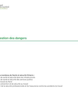 Outil de gestion des dangers