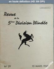 REVUE DE LA 5 EME DIVISION BLINDEE numéro 29 du 15 mars 1948