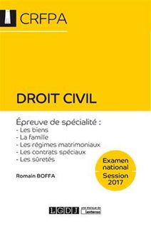 Droit civil 2017