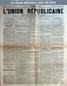 L' UNION REPUBLICAINE DE FONTAINEBLEAU  numéro 933 du 07 juillet 1886