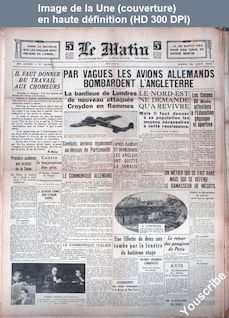 LE MATIN  numéro 20600 du 20 août 1940