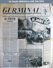 GERMINAL numéro 12 du 14 juillet 1944