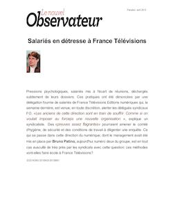 Salariés en détresse à France Télévisions