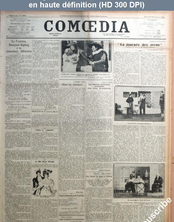 COMOEDIA numéro 3965 du 26 octobre 1923