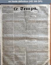LE TEMPS  numéro 1289 du 29 avril 1833