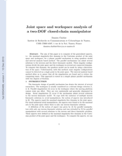 Joint space and workspace analysis of a two-DOF closed-chain manipulator