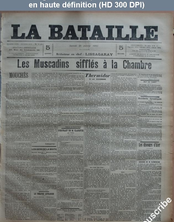 LA BATAILLE  numéro 748 du 31 janvier 1891