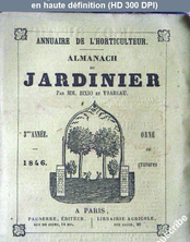 ALMANACH DU JARDINIER du 01 janvier 1846