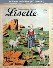LISETTE numéro 52 du 29 décembre 1940