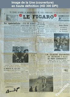 LE FIGARO  numéro 3187 du 07 décembre 1954