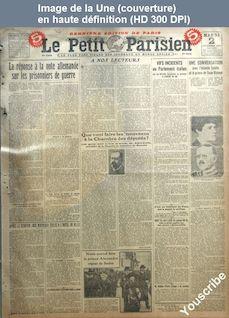 LE PETIT PARISIEN  numéro 15618 du 02 décembre 1919