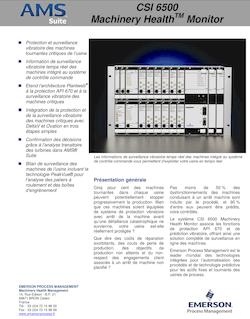 FICHE PRODUIT CSI 6500 Machinery Health Monitor