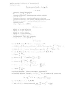 Preparation a l'Agregation de Mathematiques Annee