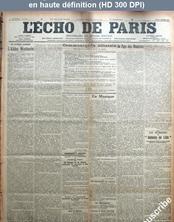 L' ECHO DE PARIS  numéro 11099 du 04 janvier 1915