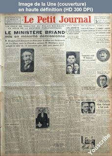 LE PETIT JOURNAL  numéro 24387 du 23 octobre 1929