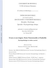L'acte et son énigme : entre l'innommable et l'indicible : psychopathologie en milieu carcéral