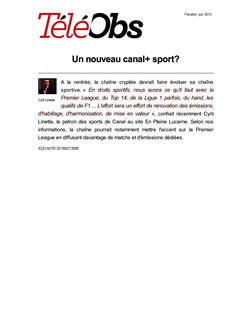 Un nouveau canal+ sport?