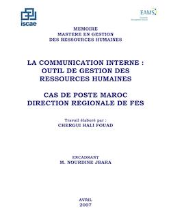 LA COMMUNICATION INTERNE : OUTIL DE GESTION DES RESSOURCES HUMAINES