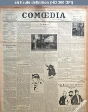 COMOEDIA numéro 3629 du 22 novembre 1922