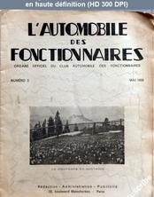 L' AUTOMOBILE DES FONCTIONNAIRES  numéro 5 du 01 mai 1939