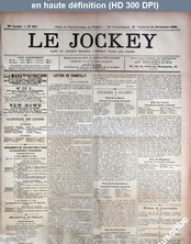 LE JOCKEY  numéro 328 du 24 novembre 1893