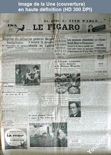 LE FIGARO  numéro 2601 du 19 janvier 1953