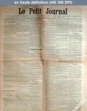 LE PETIT JOURNAL  numéro 14140 du 13 septembre 1901