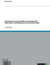 Enterprise Service Bus (ESB) als Grundlage SOA basierender Geschäftsprozess-Automatisierungen