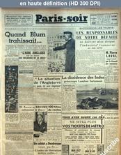 PARIS SOIR numéro 135 du 03 novembre 1940