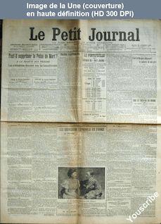 LE PETIT JOURNAL  numéro 302 du 29 octobre 1907