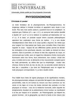 PHYSIOGNOMONIE