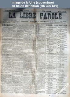 LA LIBRE PAROLE  numéro 1933 du 04 août 1897