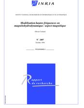 Modélisation hautes fréquences en magnétohydrodynamique : aspect magnétique