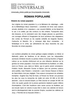 ROMAN POPULAIRE