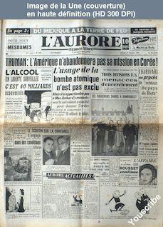 L' AURORE  numéro 1935 du 01 décembre 1950