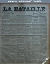 LA BATAILLE  numéro 773 du 25 février 1891