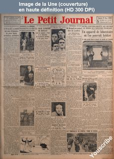 LE PETIT JOURNAL  numéro 24536 du 21 mars 1930