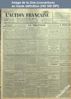L' ACTION FRANCAISE  numéro 354 du 20 décembre 1933